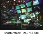 sci fi creative workspace... | Shutterstock . vector #260711438
