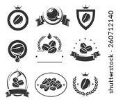 coffee labels and icons set.... | Shutterstock .eps vector #260712140