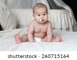 baby with soother | Shutterstock . vector #260715164