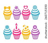 different vector colorful... | Shutterstock .eps vector #260715350
