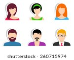 men and women vector labels on...