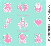 Vector Baby Icons Collection...