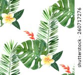 hand drawn watercolor tropical... | Shutterstock .eps vector #260717276