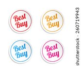 best buy stickers | Shutterstock .eps vector #260719943
