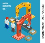 robotic production line.... | Shutterstock .eps vector #260720633