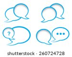 set of vector bubbles for a... | Shutterstock .eps vector #260724728