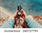 traveler woman searching... | Shutterstock . vector #260727794