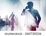 double exposure with... | Shutterstock . vector #260730536