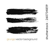 vector set of grunge brush... | Shutterstock .eps vector #260734859