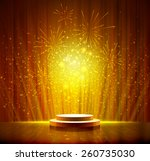 spotlight effect gold scene... | Shutterstock .eps vector #260735030