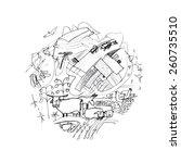 round vector illustration on...   Shutterstock .eps vector #260735510