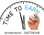 hand writing time to earn... | Shutterstock . vector #260738168