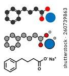 sodium phenylbutyrate urea... | Shutterstock . vector #260739863
