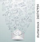 idea concept layout for... | Shutterstock . vector #260747954
