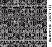 geometric seamless pattern in... | Shutterstock .eps vector #260754653