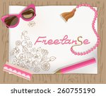 paper with hand drawn sketchy... | Shutterstock .eps vector #260755190