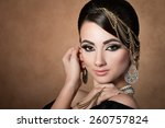 portrait of young beautiful... | Shutterstock . vector #260757824