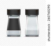 vector glass empty jar... | Shutterstock .eps vector #260760290