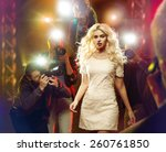 stunning blonde beauty and... | Shutterstock . vector #260761850