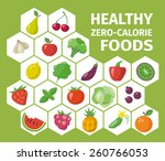 healthy lifestyle infographic.... | Shutterstock .eps vector #260766053
