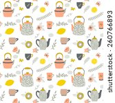 vector seamless pattern with... | Shutterstock .eps vector #260766893