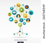 abstract social media... | Shutterstock .eps vector #260768549