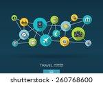 travel network. growth... | Shutterstock .eps vector #260768600