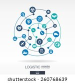 logistic connection concept.... | Shutterstock .eps vector #260768639