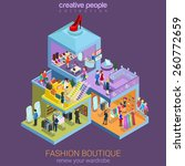 flat 3d isometric fashion... | Shutterstock .eps vector #260772659