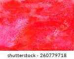 red watercolor grunge... | Shutterstock . vector #260779718