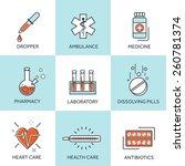 medical flat lined background... | Shutterstock .eps vector #260781374