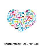 heart template design with... | Shutterstock .eps vector #260784338