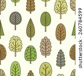 seamless pattern with doodle... | Shutterstock .eps vector #260784599