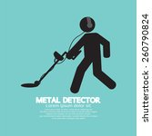 Metal Detector Black Graphic...