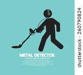 Metal Detector Black Graphic...
