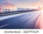 car driving on freeway at... | Shutterstock . vector #260797619