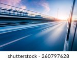 car driving on freeway at... | Shutterstock . vector #260797628