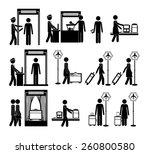 travel icon design  vector...   Shutterstock .eps vector #260800580