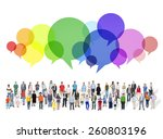 large group of multiethnic... | Shutterstock . vector #260803196