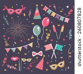 set of different party...   Shutterstock .eps vector #260807828