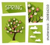 seasonal illustration with... | Shutterstock .eps vector #260816210