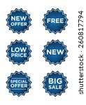 blue promo stickers for...