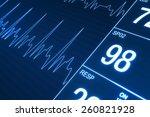 heart rate monitor illustration.... | Shutterstock . vector #260821928