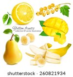 collection of ripe fresh yellow ...   Shutterstock .eps vector #260821934