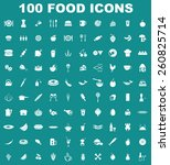 vector food icon set | Shutterstock .eps vector #260825714