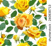 seamless pattern with realistic ... | Shutterstock .eps vector #260838713