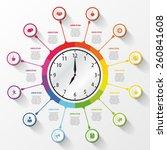 modern work time management... | Shutterstock .eps vector #260841608