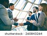 business people shaking hands... | Shutterstock . vector #260843264