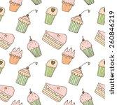sweets seamless pattern | Shutterstock .eps vector #260846219