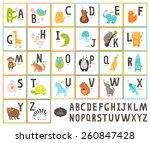 Cute Vector Zoo Alphabet With...